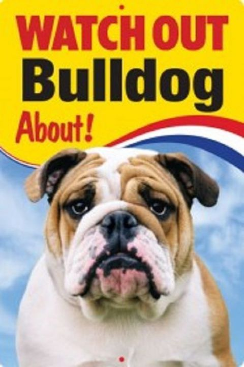 BRITISH BULLDOG 3D  DOG SIGN
